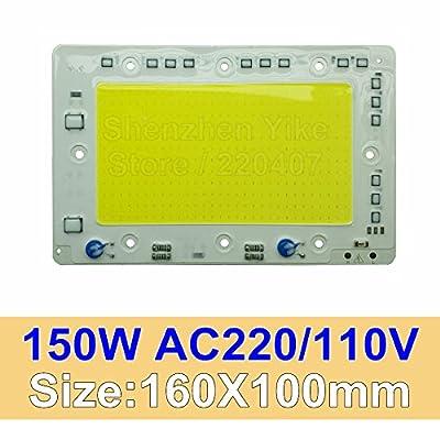 Warm white 3000K, 150W 160x100mm : COB LED Lamp Chip 30W 40W 50W 100W 150W LED COB Bulb Lamp 220V Smart IC Cold Warm White LED Spotlight Floodlight Chip