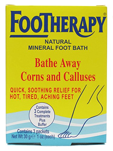 FooTherapy Natural Mineral Foot Bath, Soothing Relief For Tired, Sore Feet, 3 packets ()