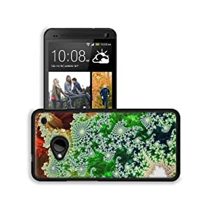 Abstract Multi Color Fractals Geometry HTC One M7 Snap Cover Premium Leather Design Back Plate Case Customized Made to Order Support Ready 5 11/16 inch (145mm) x 2 15/16 inch (75mm) x 9/16 inch (14mm) MSD HTC One Professional Leather Plastic Cases Touch A