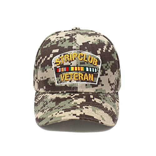 ChoKoLids Strip Club Veteran Snapback Dad hat - Flat Visor Baseball Cap Dad hat (Ball Cap Desert Camo)