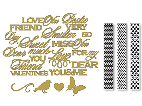 Anna Griffin Cuttlebug Sending Love Dies & Folders Set Spring & Valentines Day Anna Griffin Die Cut