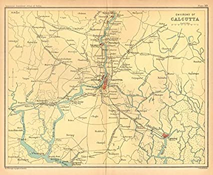 Amazon.com: Calcutta/Kolkata Environs Hooghly Canning Diamond ... on andaman islands map, amritsar map, gobi desert map, dhaka map, mumbai map, myanmar map, bangalore map, jaipur map, beijing map, seoul map, bangladesh map, west bengal map, asia map, cairo map, colombo map, indus river map, delhi map, calcutta map, chennai on map, varanasi map,