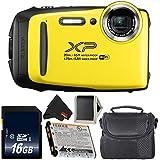 Fujifilm FinePix XP130 Waterproof Digital Camera 2018 Version (Yellow) Bundle with 16GB Memory Card - International Version with 1 year Seller Warranty