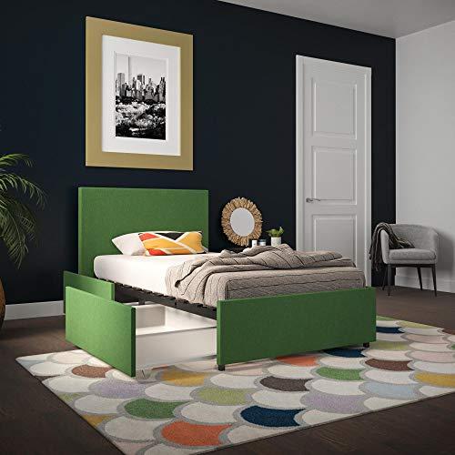 Novogratz Kelly Bed with Storage, Green, Twin