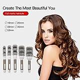 Ckeyin 5 Sizes Ceramic Comb Barrel Round Hair Brush Hairdressing Salon Hair Styling Tools