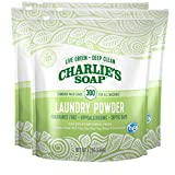 Charlie's Soap – Fragrance Free Powder Laundry Detergent – 300 Loads (8 lbs, 4 Pack)