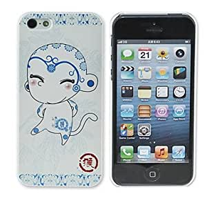 AES - Zodiac Series Pig Chivalrous Pattern PC Back Case for iPhone 5