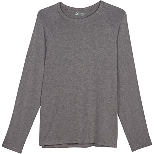 Shedo Lane Mens Sun Protective Long Sleeve T Shirts UPF 50+ SPF UV Protection Clothing Heather Gray Large