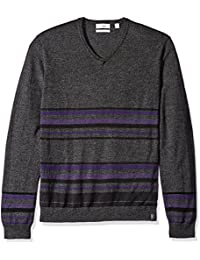 Men's Merino Sweater V-Neck Stripes