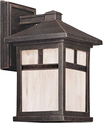 - Forte Lighting 1773-01 Craftsman / Mission Outdoor Wall Sconce, Painted Rust