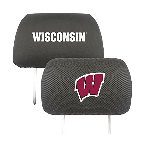 - FANMATS NCAA University of Wisconsin Badgers Polyester Head Rest Cover