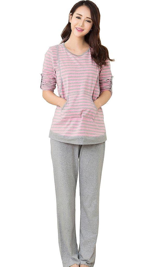 f64252a2f35f4 Epmami Womens Nursing Pajamas 2 Pcs Maternity Breastfeeding Pajamas/pjs Sets
