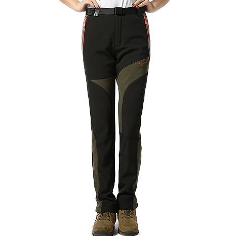 new arrival 3b0c2 4d470 M.Baxter Pantaloni donna imbottiti soft shell pantaloni tecnici pantaloni  da montagna pantaloni da trekking impermeabili + traspiranti + caldi + ...