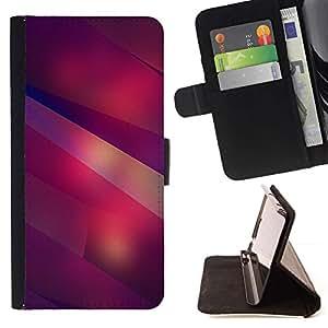 Moderne Formes Art Lines Violet Rouge - Modelo colorido cuero de la carpeta del tirón del caso cubierta piel Holster Funda protecció Para Sony Xperia M5 E5603 E5606 E5653