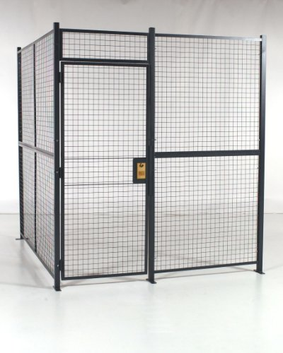 WireCrafters A8882W Welded Wire Mesh 2 Sided Cage with 3' Hinged Door, 8'6