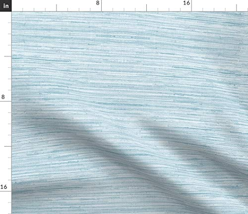 Grasscloth Fabric - Texture Baby Boy Nursery Blue Shabby Chic Faux Linen Burlap Wallpaper Print on Fabric by the Yard - Basketweave Cotton Canvas for Upholstery Home Decor Bottomweight Apparel