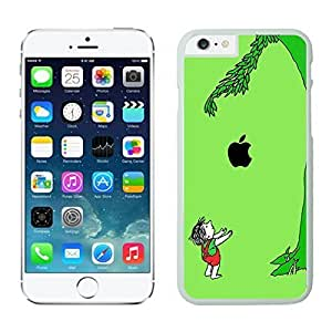 Apple Iphone 6 Case, Custom Cute Funny Boy and Apple Tree Phone Case Cover for Iphone 6 4.7 Inch Screen, White Slim Iphone 6 Hard Shell Cover