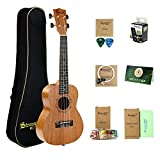 Tenor Ukulele Beginner Kit, Strong Wind Mahogany 26 inch Ukulele Starter Pack with Gig Bag, Strap, Picks, Nylon Strings and Cleaning Cloth for Adult Children Student