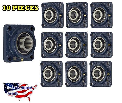 "1-15//16/"" 4 Bolt Flange Bearing 10 Pieces UCF210-31 UCF210"