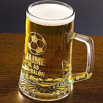 Regalo Divertido para Hombre: Jarra de Cerveza El as del balón ...