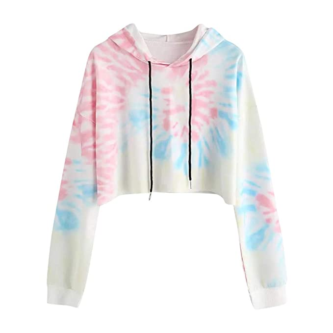 Amazon.com: Roysberry Pullover Hoodie Teen Girls Cotton Cute Crop Top Floral Long Sleeve: Clothing