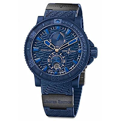Ulysse Nardin Marine Diver Blue Ocean Automatic Blue Dial Blue Rubber Mens Watch 263-99LE-3C