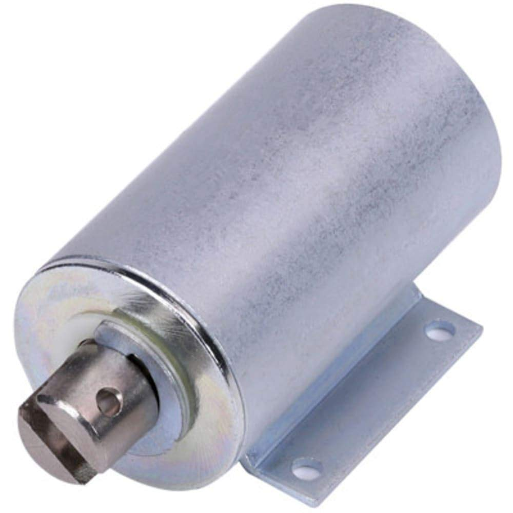 Solenoid; Tubular; Pull; Foot Mounted; Flying Leads; 12VDC Cont; 24VDC& 64; 25& 37; 14.