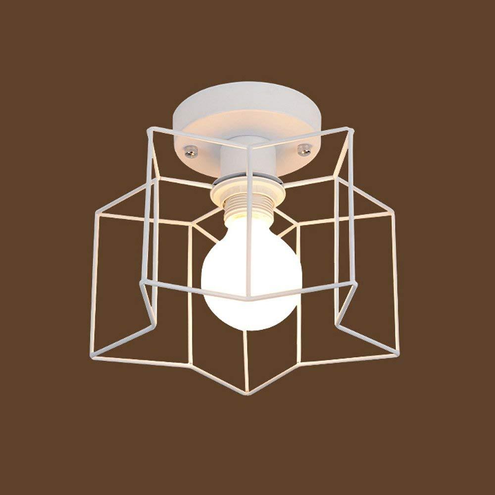 Kronleuchter, Höhe Helligkeit Retro intage Unterputz Deckenleuchte Mini malen Metall, bündige Montage Kronleuchter Deckenlampe für Flur mit E27 Sockel Fertig stellen