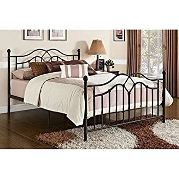 DHP Tokyo Metal Bed  Classic Design  Includes Metal Slats  Queen  Bronze. Amazon com  Coaster Home Furnishings Sydney Modern Traditional