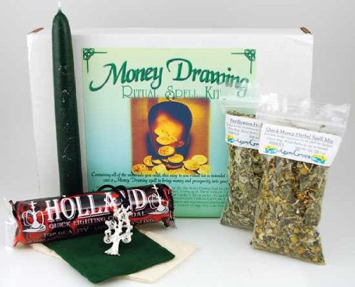 Fortune Telling Toys Boxed Magic Spell Kit Money Drawing Green Magic Intention by AzureGreen