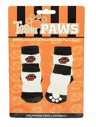 Oklahoma State Cowboys Large Oklahoma State Cowboys Large Purchadise Team Paws NCAA Dog Socks (Large, Oklahoma State Cowboys)