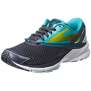 Brooks Womens Launch 4 Running Sneaker Shoe, Anthracite/Ceramic/Lime Punch, 8