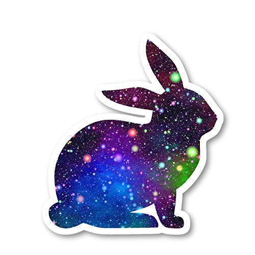 (Bunny Sticker Bright Galaxy Stickers - 2 Pack - Laptop Stickers - 2.5