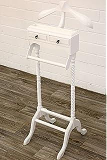 Stummer Diener GENY Antik-Weiß Mahagoni ca H125cm Kleiderständer Butler