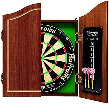 Harrows Pro S Choice Kit Flechettes Avec Cible De 45 Cm Avec Armoire Et 6 Flechettes Amazon Fr Sports Et Loisirs