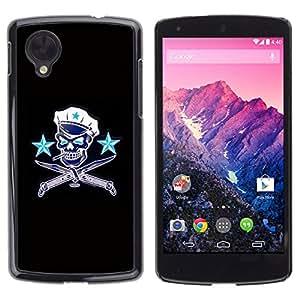 Shell-Star Arte & diseño plástico duro Fundas Cover Cubre Hard Case Cover para LG Google NEXUS 5 / E980 /D820 / D821 ( Communist Russia Skull Captain Sailor )