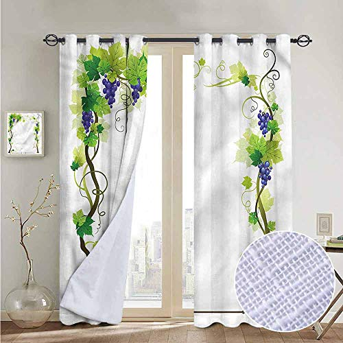 - NUOMANAN Window Blackout Curtains Vine,Wedding Inspired Floral Arch,for Room Darkening Panels for Living Room, Bedroom 52
