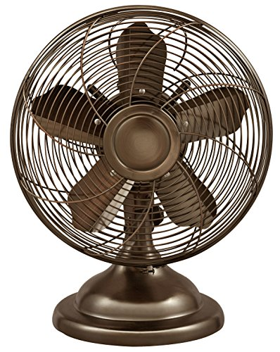 Optimus F-6212 Oscillating Antique Table Fan, 12-Inch, Antique ()