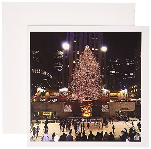 3dRose Christmas lights at Rockefeller Center in New York - Greeting Cards, 6 x 6 inches, set of 6 (gc_45489_1)