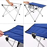 Utheing Ultralight Folding Picnic Table, Portable Alloy Outdoor Camping Tables with 2 Size-Oxford Cloth for Outdoor Fishing, Garden BBQ, Hiking (29.1 x 21.7 x 20.5inch)