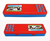 HUSAN NEW Smart School Electronic Pencil case For Students Multifunctional Password Lock Pencil Box (Red)