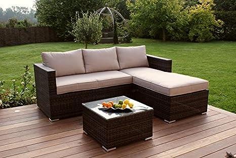 Chaise End Sofa Set: Amazon.co.uk: Garden & Outdoors