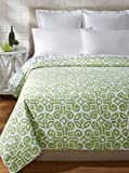 C&F Home Boxwood Abbey Quilt, Green/White, Full/Queen