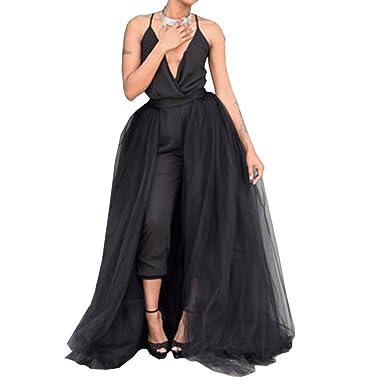 eca1965edb WDPL Maxi Black Detachable Skirts Bridal Wedding Tulle Overskirt for ...