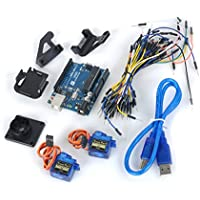 UNO R3 Board + 9g Servo + Holder + Breadboard Cables Kit for Arduino