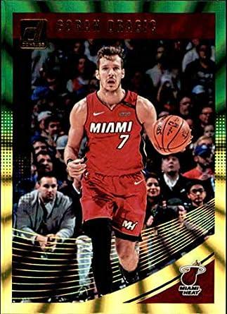 2018-19 Donruss Holo Green and Yellow Laser  5 Goran Dragic Miami Heat NBA bcb386e7e