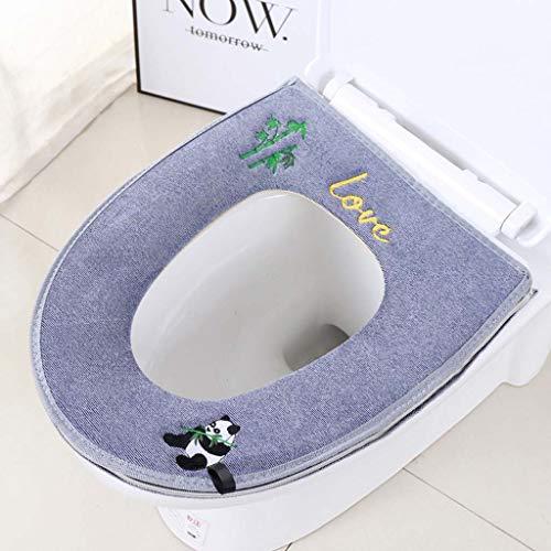 Yuzhijie Toiletzitkussen met dikke toiletdeksel toiletbril rits toilet, 7