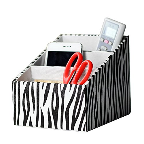 Lalago PU Leather Desk Organizer Home Office Storage Box(zebra) by Lalago