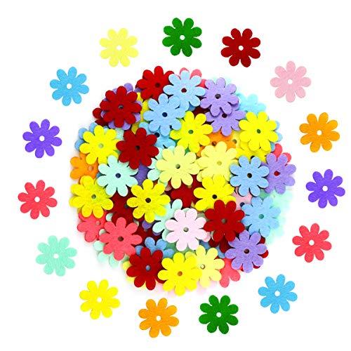 Oruuum 240 Pieces Non-Woven Flowers Fabric Flower Patch DIY Button Petal Flower Patch Handmade Materials Assorted Colors for DIY -