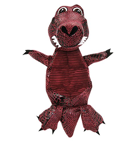 - Best Pet Supplies PT109 Fire Dragon Dinosaur Mats Dog Toy with 7 Squeakers